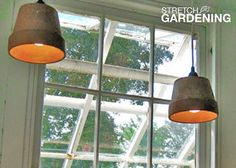 As part of Home Depot's ongoing Stretch Gardening series, we have invited some of our favorite garden bloggers to contribute to the Garden Club. This week, I was chosen. I explain how to turn old garden pots into stylish pendant lamps.