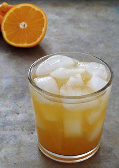 Orange Almond Cake Cocktail {Amaretto, Wedding Cake Vodka, & Orange Juice}