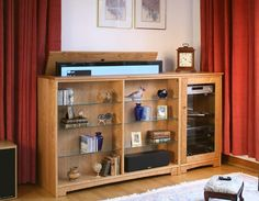 Artisan Entertainment with a Single Cabinet in Natural Cherry