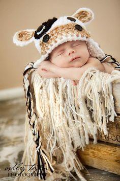 Cherub Chic-My Brown Cow hat
