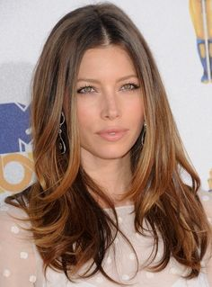 Celebrity hairstyles, Ombre Hair of Jessica Biel