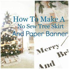 No Sew Tree Skirt An