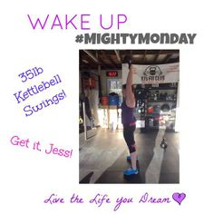 Jessica Jackson is ROCKIN OUT the kettlebell swings at KJ's Fit Club! Jess has been fueling her body with our amazing protein, electrolyte mix, protein bars, and other all natural and organic products for several months now and she's kickin' a$$ and takin' names! An inspiration to ALL of us!!! #wakeupproject #healthylife #stronglife www.facebook.com/wakeuplivethelifeyoudream  lexie226@aol.com