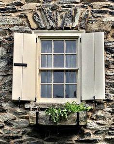 Window at Valkill, Eleanor Roosevelt Historic Site Hyde Park, NY.