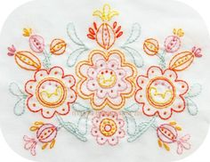 Sweet Posy Embroidery Pattern
