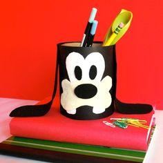 pencil holder, disney crafts, goofi pencil, diy crafts, disney goofy crafts, pencil caddi, teach idea, disney classroom, pencils