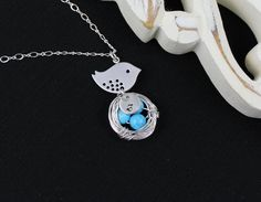 New Mother Necklace Mom jewelry Handmade Nest in by JamJewels1, $34.50