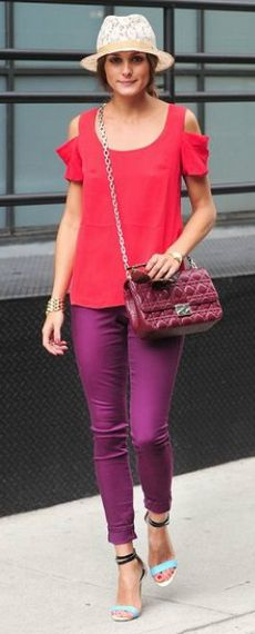 Pair this look with your purple or red Ix sandals.