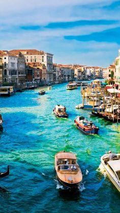 Dock in Venice, Italy.