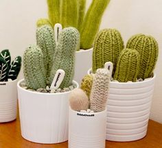 Oh my  - Knitted Cacti by Andrea Daniel from Odds&Ends.  LOVE LOVE LOVE!