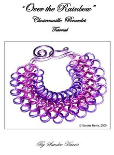 Over the Rainbow Chain Maille Tutorial love it! must try! #ecrafty
