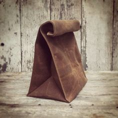 The Marlowe Lunchbag waxed canvas. by PegandAwl on Etsy, $44.00 wax canva, canva lunch, lunches, spice, brown bags, lunch bags, leather, marlow lunchbag, canvases