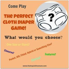 The Perfect Cloth Diaper Game - The Inquisitive Mom