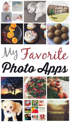 List of great photo apps! I love every single one of these  *great collection