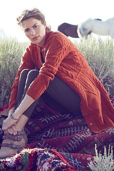 #Cabled #Sweater #Coat #Anthropologie