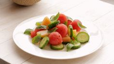 Watch Martha Stewart's Refreshing Cucumber-Melon Salad Video. Get more step-by-step instructions and how to's from Martha Stewart.