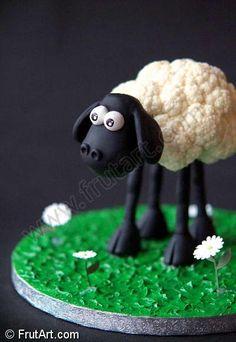 Shawn the sheep made of cauliflower