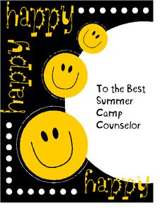 counselor card, camp activities, camp counselor, futur camp, camp camp