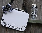 Custom Personalized Dry Erase Board and Hand Sanitizer Set