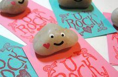 Pet Rock Valentines Day Card Craft