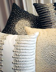 More Beaded Pillows