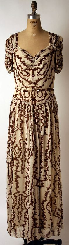 Evening dress  Date: 1939
