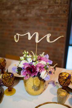 cutout script table numbers, photo by Tami Melissa Photography http://ruffledblog.com/the-notwedding-nyc-ii #tablenumbers #weddingideas