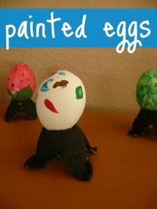 Fun Easter Egg painting activity for kids.