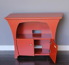 Media Console in Desert Red Paint