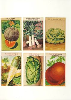 vintage veggie labels