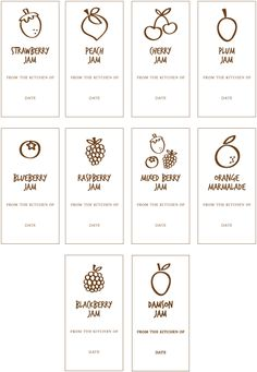 Free Printable Jam Labels Tags