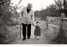 Grandpa + Granddaughter (Rebecca Sehn Photography)