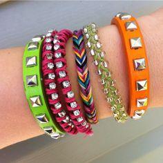 i love making bracelets!