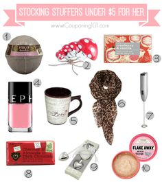 10 awesome stocking stuffer ideas for her -- all under $5 each!