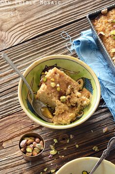 Middle Eastern Tahini, Date, and Cardamom Bulgur Wheat Breakfast Bake #breakfast #brunch #recipes