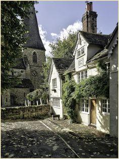 Old cottages in Horsham, UK