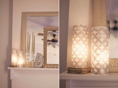 DIY luminaries for wedding or home decor