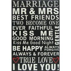 All signs point to true love! Celebrate being Mr. and Mrs. with this sweet wall art. | Shop Hobby Lobby