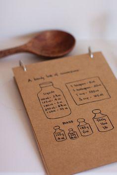 <3 blank recipe cards