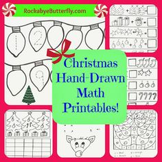 Christmas Hand-Drawn Math Printables!!