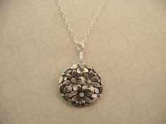 Daisy Charm necklace set with 3 or more stones/ by MayaBelle, $79.00