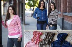 Stylish Comfort - Stripe Zip Hoodie #hoodies pickyourplum.com