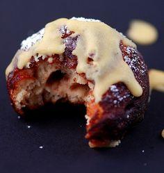 Deep Fried Cinnamon Rolls.  Use refridgerator cinnamon rolls for super easy cinnamon roll donuts.