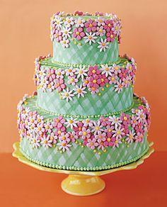 gingham cake: too pretty to eat