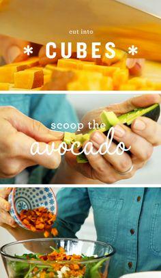 Roasted Sweet Potato Avocado Salad