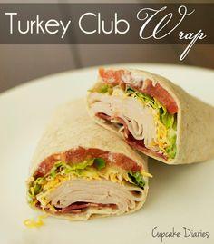 Turkey Club Wrap from Cupcake Diaries #wrap #turkey #recipe