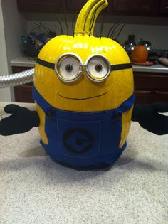 How adorable is this?!? My friend's mom made a pumpkin minion!!! <3 @Brittnie Marie
