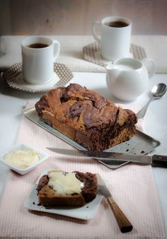large chocolate swirl banana bread vegan gluten-free