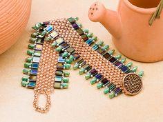 Free pattern: seed beads, tilas & drop beads