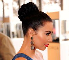 Celebrity Hairstyle How-Tos: Kim Kardashian's Braided Bun
